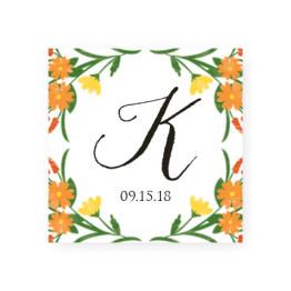 Floral Monogram Favor Tags