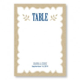 Burlap Table Cards