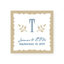 Burlap Favor Tags