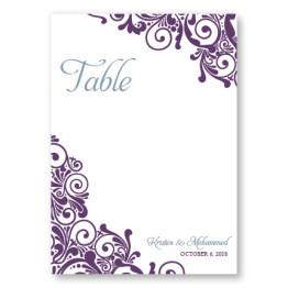 Henna Table Cards