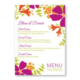 Bloom Menu Cards