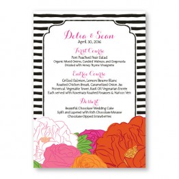 Bouquet Menu Cards