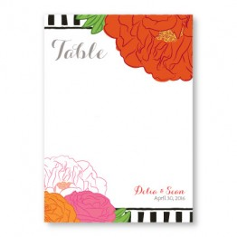 Bouquet Table Cards