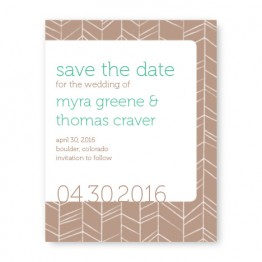 Modern Feather Save The Date Cards