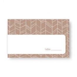 Modern Feather Seating Cards
