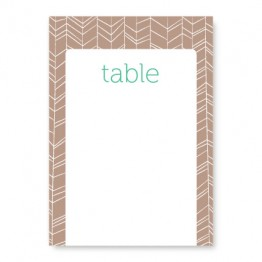Modern Feather Table Cards
