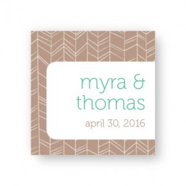 Modern Feather Favor Tags