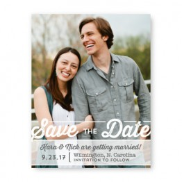 Poster Photo Save the Date Cards