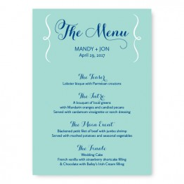 Embrace Menu Cards