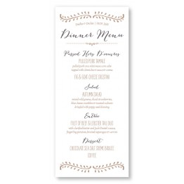 Vine Menu Cards