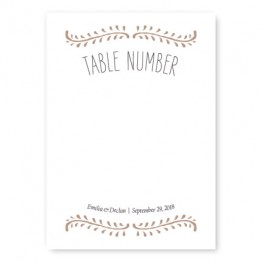 Vine Table Cards