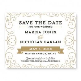 Heart Save The Date Cards