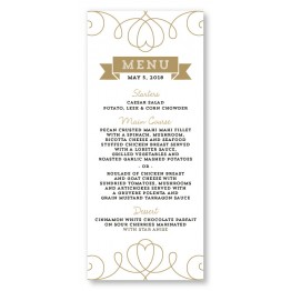 Heart Menu Cards