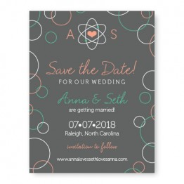 Chemistry Save The Date Cards