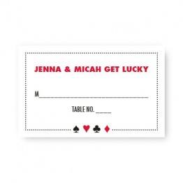 Vegas Seating Cards