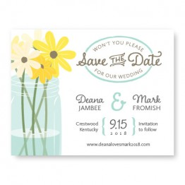 Mason Jar Save The Date Cards