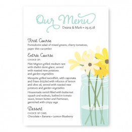 Mason Jar Menu Cards