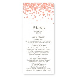 Confetti Menu Cards