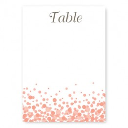 Confetti Table Cards