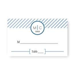 Pinstripe Seating Cards