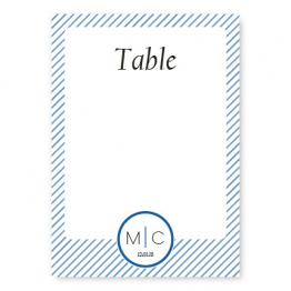 Pinstripe Table Cards