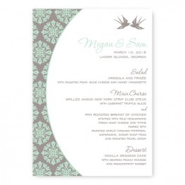 Two Birds Menu Cards