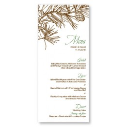 Pine Menu Cards