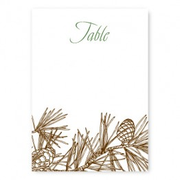 Pine Table Cards