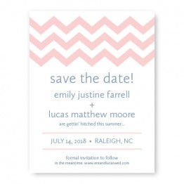 Chevron Save The Date Cards