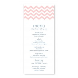 Chevron Menu Cards