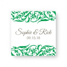 Damask Favor Tags