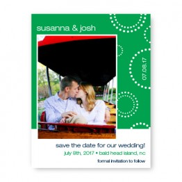 Circles and Dots Photo Save the Date Cards
