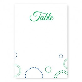 Circles and Dots Table Cards