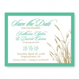 Classic Coastal Save The Date Cards