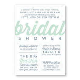 Poster Bridal Shower Invitations