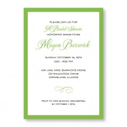 Classic Bridal Shower Invitations