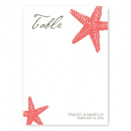 Starfish Table Cards