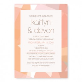 Gemstone Rehearsal Dinner Invitations