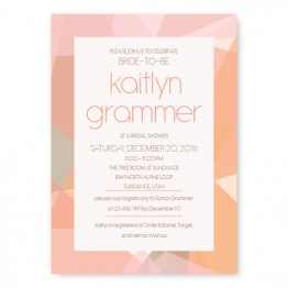Gemstone Bridal Shower Invitations