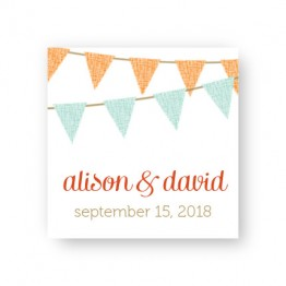Bunting Favor Tags