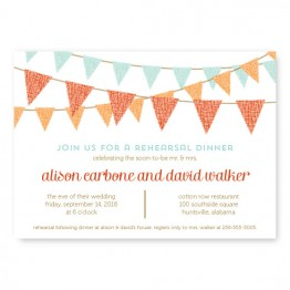 Bunting Rehearsal Dinner Invitations