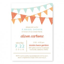 Bunting Bridal Shower Invitations