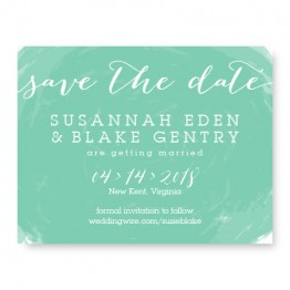 Watercolor Swirl Save The Date Cards