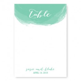 Watercolor Swirl Table Cards