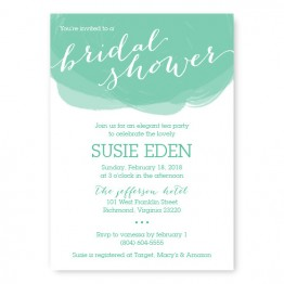 Watercolor Swirl Bridal Shower Invitations