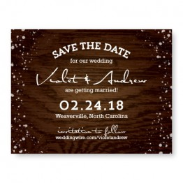 Cozy Cabin Save The Date Cards
