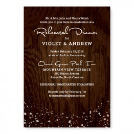 Cozy Cabin Rehearsal Dinner Invitations