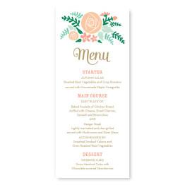 Floral Cluster Menu Cards