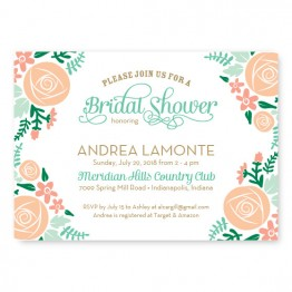 Floral Cluster Bridal Shower Invitations