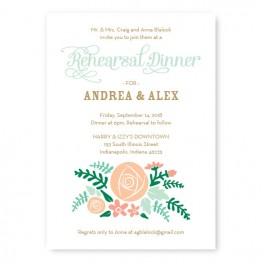 Floral Cluster Rehearsal Dinner Invitations